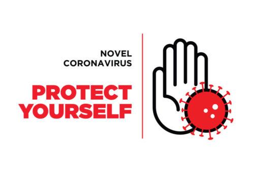 coronavirus hand stopping